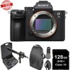 Sony Alpha a7 III Mirrorless Digital Camera (Body Only) USA w/ 128GB MC | DSLR Backpack & Microphone Kit Bundle