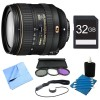 Nikon AF-S DX NIKKOR 16-80mm f/2.8-4E ED VR Lens W 32GB Bundle