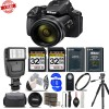 Nikon COOLPIX P900 Digital Camera 83x Optical Zoom WiFi W/ 32GB MC | Flash | Cleaning Kit | Spare Battery & More Deluxe Bundle