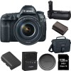 Canon EOS 5D Mark IV Digital SLR Camera W/ EF 24-105mm f/4L IS II USM Lens with Canon Battery Grip Bundle USA