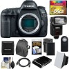 Canon EOS 5D Mark IV 4K Wi-Fi Digital SLR Camera Body with 64GB CF Card + Battery & Charger + Backpack + Flash + Soft Box + Deluxe Kit