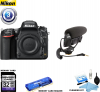 Nikon D750 FX-Format Digital SLR Body Only Camera w/ Microphone Kit