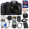 Nikon Coolpix B700 4K Wi-Fi Digital Camera with 64GB Card + Case + Flash + Battery Deluxe Bundle