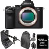 Sony Alpha a7 II Mirrorless Digital Camera (Body Only) w/ 128GB MC | DSLR Backpack & Microphone Kit Bundle