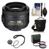 Nikon AF-S DX NIKKOR 35mm f/1.8G Lens - 3 UV/CPL/ND8 Filters - Package