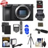 Sony Alpha a6500 4K Wi-Fi Digital Camera Body with 64GB MC + Flash + Microphone Bundle