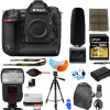 Nikon D5 DSLR Camera (Body Only, Dual CF Slots)|Tascam DR-10SG Audio Recorder and Shotgun Microphone || 64GB Accessory Bundle