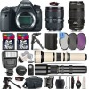 Canon Eos 6D Mark II Camera with 24-105mm Is II   70-300mm USM   EXT Batt   Supreme Bundle