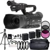 JVC GY-HM250 UHD 4K Streaming Camcorder with Built-in Lower-Thirds Graphics Bundle  Includes 2x Replacement Batteries + MORE