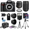 Nikon D7000 Digital SLR Camera + 4 Lens: 18-55 VR + 70-300 + 16GB Kit & More
