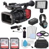 Panasonic AG-DVX200 4K Handheld Camcorder with Pro Headphones | LED Video Light | Microphone | 72mm Filter Kit | Basic Advanced Bundle Accessories