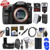 Sony Alpha A99 II Full Frame 4K Wi-Fi Digital SLR Camera Body with 64GB Card + Backpack + Flash + Battery & Charger + Grip + Remote + Kit