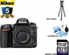 Nikon D750 DSLR Camera (Body Only) USA W/ Additional Accessories