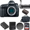 Canon EOS 5D Mark IV DSLR Camera (Body Only) with Battery Grip Starter Kit USA