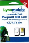 Lycamobile Preloaded Sim Card with FREE $29 Monthly Plan