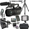 JVC GY-HM200HW House of Worship Streaming Camcorder W/ Microphone Supreme Bundle
