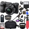 Sony Alpha A6300 4K Mirrorless Camera w/ 16-50mm Power Zoom Lens W/ 32GB ACCESSORY BUNDLE