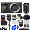 Sony Alpha A6300 4K Wi-Fi Digital Camera Body with 55-210mm Lens Essential Deluxe Bundle