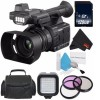 Panasonic AG-AC30 Full HD Camcorder with 128GB SDXC Class 10   Carrying Case   Professional 160 LED Video Light Studio Series Bundle