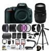 Nikon D5500 Digital Camera (Body) + 70-300mm Lens + 128GB + 2 Battery + Charger + Backpack + Case + Filters + Microphone