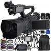 JVC GY-HM250 UHD 4K Streaming Camcorder with Built-in Lower-Thirds Graphics W/ Accessory Bundle