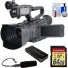JVC GY-HM200U/250 Ultra 4K HD 4KCAM Professional Camcorder & Top Handle Audio Unit with XLR Microphone   64GB Card   Reader   Kit