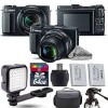 Canon PowerShot G1 X Mark II Digital 12.8MP Camera + EXT BAT + LED - 64GB Kit