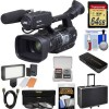 JVC GY-HM620U ProHD Professional Mobile News Camcorder + Microphone + 64GB + Video Light + Hard Case + 3 Filters + HDMI Cable + Kit