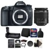 Canon EOS 70D/80D DSLR Camera with 18-55mm & Battery Grip, 16GB Memory Card Bundle