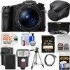 Sony Cyber-Shot DSC-RX10 III 4K Wi-Fi Digital Camera with LCJ-RXJ Leather Case + 64GB Card + Battery & Charger + Flash + Filters + Tripod + Kit