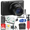 Sony DSC-RX100 V 20.1MP Cyber-shot Digital Camera + 64GB Dual Battery Accessory Kit