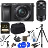Sony Alpha a6300 Digital Camera with 16-50mm & 55-210mm Lens & Additional Accessories
