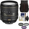 Nikon AF-S DX NIKKOR 16-80mm f/2.8-4E ED VR Lens with 3 UV/CPL/ND8 Filters | CaseLogic Backpack Package