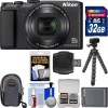 Nikon Coolpix A900 4K Wi-Fi Digital Camera (Black) with 32GB Card + Case + Battery + Flex Tripod + Kit