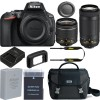 Nikon D5600 DSLR Camera with 18-55mm and 70-300mm Lenses with Spare Battery & Nikon Carrying Case Kit