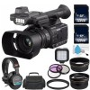 Panasonic AG-AC30 Camcorder with 128GB SDXC Class 10   Carrying Case   Professional 160 LED Video Light   Sony MDR-7506 Headphone Bundle