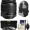 Canon EF-S 18-55mm F 3 5-5 6 Is II Zoom Lens with UV Cpl ND8 Filters Sling Backpack Ki