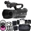 JVC GY-HM250 UHD 4K Streaming Camcorder with Built-in Lower-Thirds Graphics-2x Replacement Batteries + AC/DC Rapic Home & Travel Charger etc