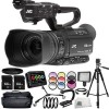 JVC GY-HM250 UHD 4K Streaming Camcorder with Built-in Lower-Thirds Graphics with - Includes Manufacturer Accessories | Atomos Ninja 2 Video Recorder Mega Bundle
