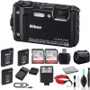 Nikon COOLPIX W300 Digital Camera (Black) Bundle with 2X 64GB Memory Cards + Spare Battery + LED Ligh