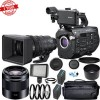Sony PXW-FS7M2 4K XDCAM Super 35 Camcorder Kit with 18-110mm Zoom Lens and Sony E 50mm f/1.8 OSS Lens 11PC Accessory Bundle