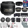 Nikon AF-S DX NIKKOR 35mm f/1.8G Lens Accessory Deluxe Bundle