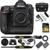 Nikon D5 DSLR Camera (Body Only, Dual CF Slots) Stereo/Mono Camera Mount Microphone, 32GB Class 10 Memory Card & Deluxe DSLR Camera Case