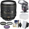 Nikon AF-S DX NIKKOR 16-80mm f/2.8-4E ED VR Lens with 3 Filters | Flash | Diffuser | Softbox Bundle
