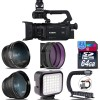 Canon XA55 Professional UHD 4K Camcorder with 128GB Starter Bundle USA