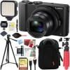 Panasonic Lumix LX10 20.1 MP 3X Optical Zoom Digital Camera (Black) + 64GB Deluxe Bundle