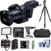 Canon XC10 4K Professional Camcorder Bundle with Video Case, 64Gb CF Card, Spare battery, Tripod, Video Light, Shotgun Mic, and More