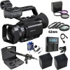 Sony PXW-Z90V 4K HDR XDCAM with Fast Hybrid AF with Professional Microphone Deluxe Bundle