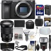 Sony Alpha a6500 4K Wi-Fi Digital Camera Body with 18-105mm f/4 Lens Bundle