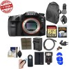 Sony Alpha A99 II Full Frame 4K Wi-Fi Digital SLR Camera Body with 64GB Card + Backpack + Flash + Battery & Charger + Remote + Diffuser + Kit
